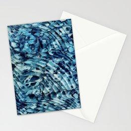 Blue marbling vintage Stationery Cards
