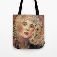 klimt Tote Bags featuring klimt by Galvanise The Dog