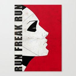 Run Freak Run - Red Canvas Print