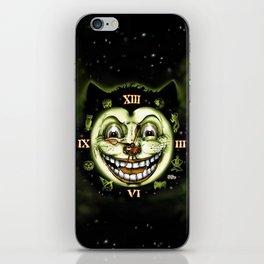 Black Cat 13 Halloween Clock iPhone Skin