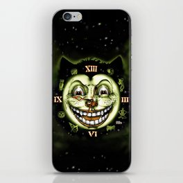 Black Cat 13 Halloween Clock iPhone Skin