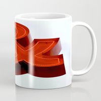 ampersand Mugs featuring Ampersand by Ann Yoo