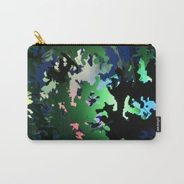 Camo Green Red Blue Carry-All Pouch