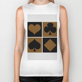 Cards series - Black and brown Biker Tank