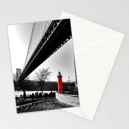 The Little Red Lighthouse - George Washington Bridge NYC Stationery Cards