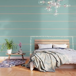 Care Free \\ Retro Teal Stripe Wallpaper