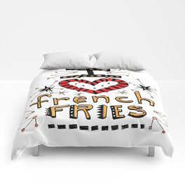 I Love French Fries Comforters