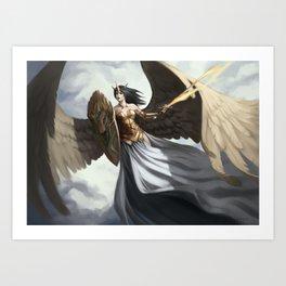 Angel of defence Art Print