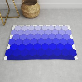 Hexagons (Blue) Rug