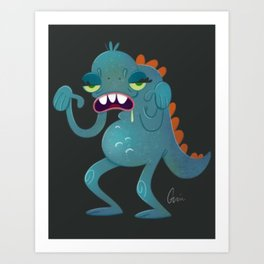Sick Monster Art Print