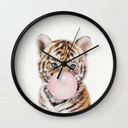 Bubble Gum Tiger Cub Wall Clock