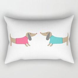 Cute dog lovers Rectangular Pillow