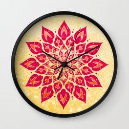 Mandala Savasana Wall Clock