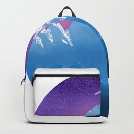 Purple Mountains Nature Night Sky Shooting Stars Outdoors Backpack