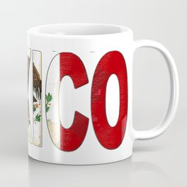 Mexico Font with Mexican Flag Coffee Mug