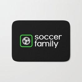 Soccer Family (Green) Bath Mat