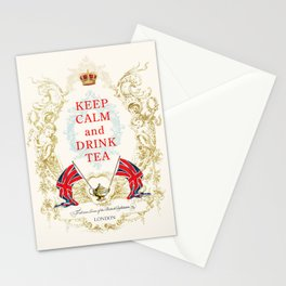 Keep Calm and Drink Tea Stationery Cards