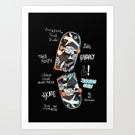Skate Time Art Print