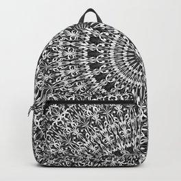 Grey Lace Ornament Mandala Backpack