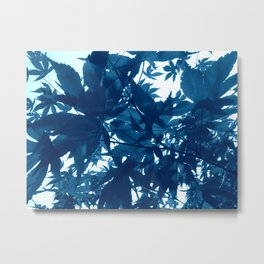 Foliage Blue Metal Print