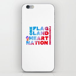 4th of July Quote iPhone Skin
