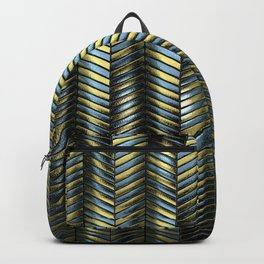 Alien Columns - Blue and Gold Backpack