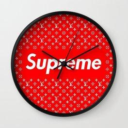 LV supreme logo Wall Clock