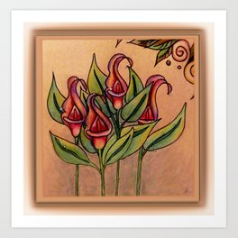 Lilly Dew in Pink Art Print
