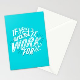 work for it Stationery Cards