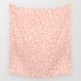 Leopard Print | Pastel Pink Girly Bedroom Cute | Cheetah texture pattern Wall Tapestry