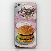 burger iPhone & iPod Skins featuring BURGER by Beth Hoeckel