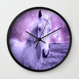 Lavender Horse Celestial Dreams Wall Clock