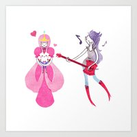 bubblegum Art Prints featuring Bubblegum by azrette