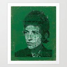 Typographic Icons - Bob Dylan Art Print
