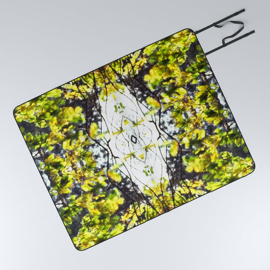 Leaves Blowing In The Wind Picnic Blanket By Jondelorme Society6