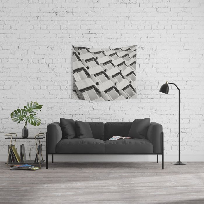 Modernistic Architectural Pattern Wall Tapestry