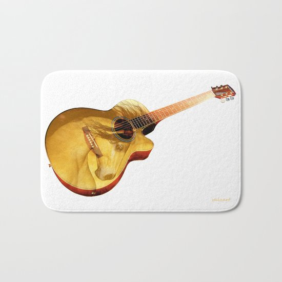 The guitar is a lady Bath Mat