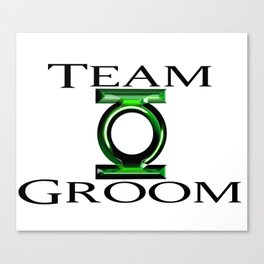 Green Lantern Team Groom 2 Canvas Print