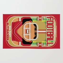 American Football Red and Gold - Hail-Mary Blitzsacker - Indie version Rug
