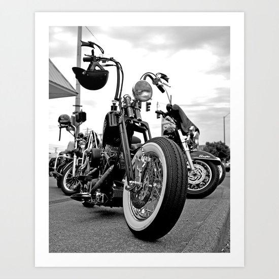 Roadside chopper Art Print