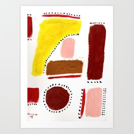 Abstract Happy Shapes / Inspirational / Colorful / Surrealsim Art Print
