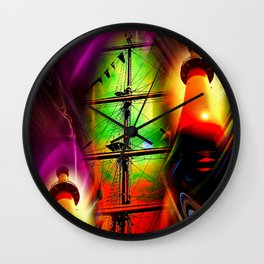 Lighthouse romance 2 Wall Clock