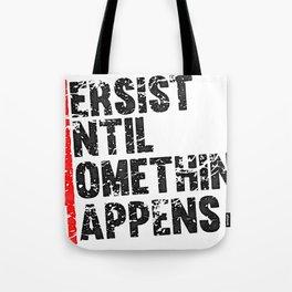 Push until Persist Fitness & Bodybuilding Motivation Quote Retro Style Tote Bag