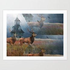 Illusion Stag Art Print