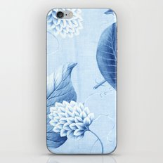 Wildflower II - indigo iPhone Skin