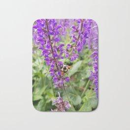 Honey Bee on Lavender Bath Mat