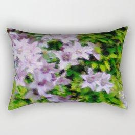 2905 Clematis like painted Rectangular Pillow
