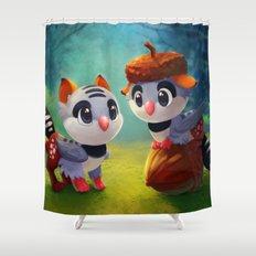 Zebra Finch Griffins Shower Curtain