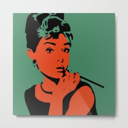 Pop up Audrey Metal Print