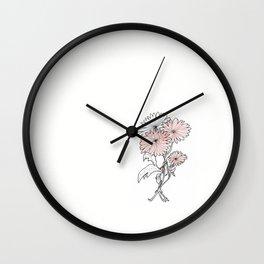 flower illustration Wall Clock